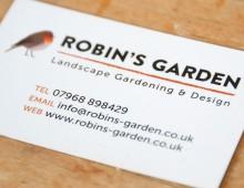 Robin's Garden branding